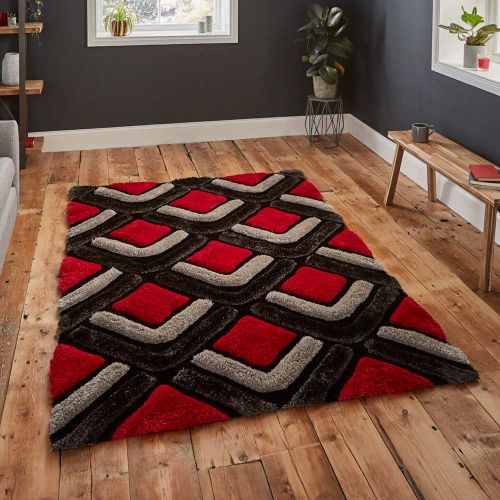 Noble House NH8199 Black Red Rug