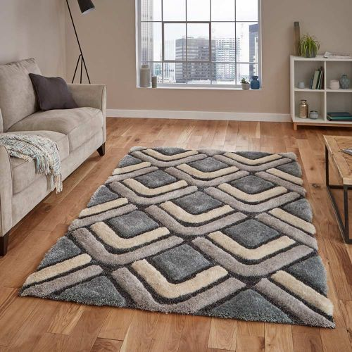 Noble House NH8199 Grey Blue Rug