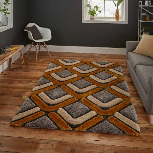 Noble House NH8199 Grey Yellow Rug