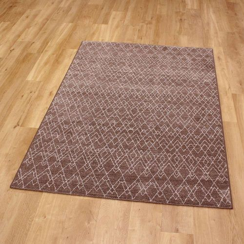 Nomad Rug Brown Geometric Style 7262