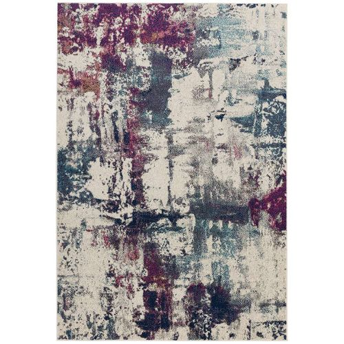 Nova Rug Abstract Navy Fuchsia NV23