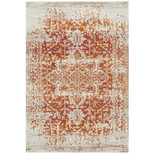 Nova Rug NV09 Antique Rustic Orange Multi Colour