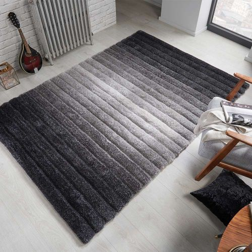 Ombre Grey Two Tone Rug
