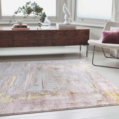 Orion OR01 Decor Pink Modern Abstract Rug