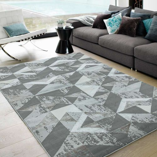 Orion OR09 Flag Silver Geometric Rug
