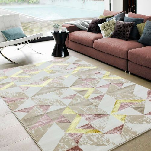 Orion OR10 Flag Pink Geometric Rug