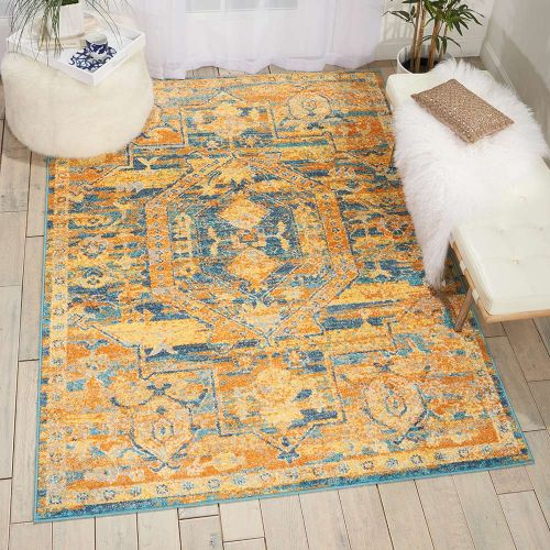 Passion rug PSN07 Teal Sun