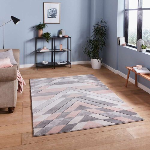 Pembroke G2075 Geometric Grey Rose Rug