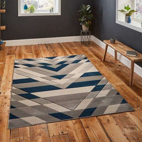 Grey Blue Pembroke Rug G2075