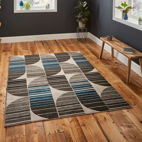 Grey Blue Rug Pembroke GB33
