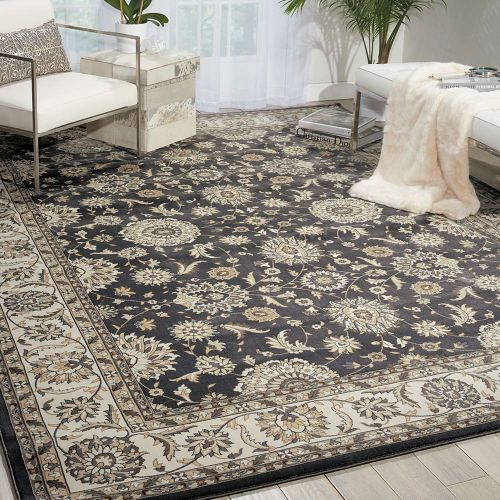 Persian Crown Rug PC002 Charcoal Ivory
