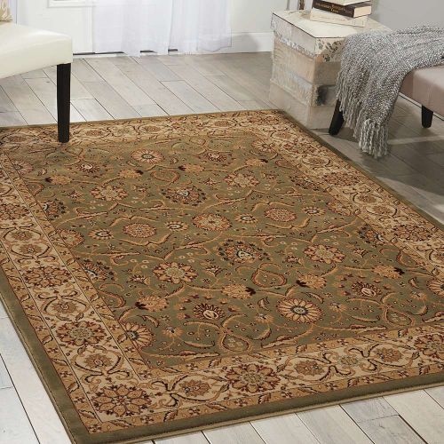 Persian Crown Traditional Rug PC001 Green