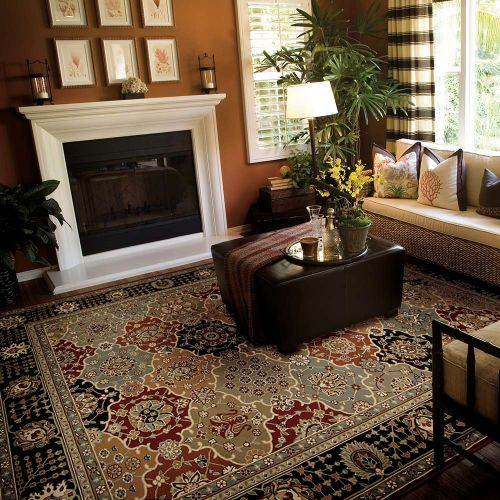 Persian Crown Traditional Rug PC004 Black