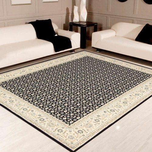 Persian Empire Wool Rug PE26 Black