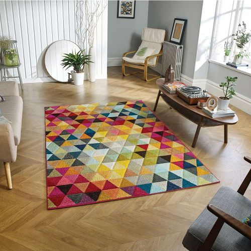 Piccadilly 526 X Vibrant Geometric Rug