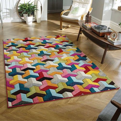 Piccadilly 531 X Vibrant Geometric Rug