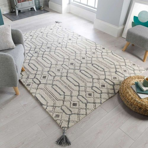 Pietro Traditional Grey Wool Rug