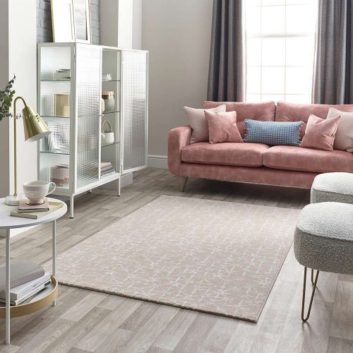 Pink Grey Cream Rug Chamonix