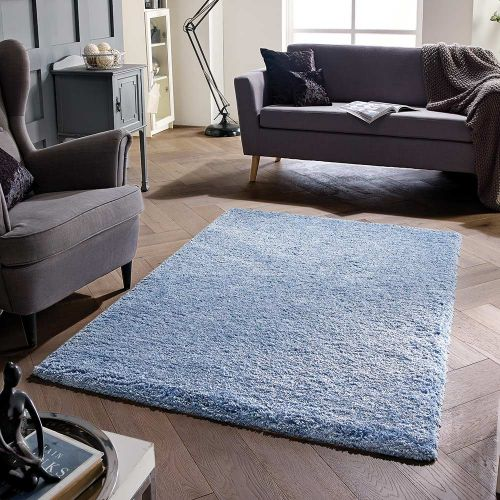 Softness Denim Blue Plain Rug