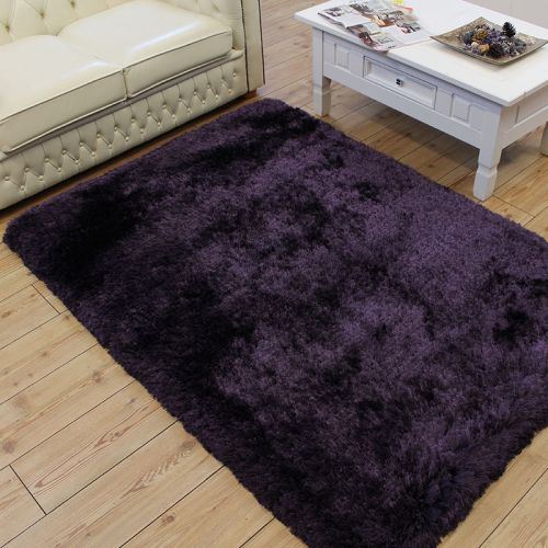 Buy Plush Rug White Ultra Thick Shaggy Glossy Land Of Rugs