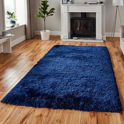 Polar Fluffy Rug Navy