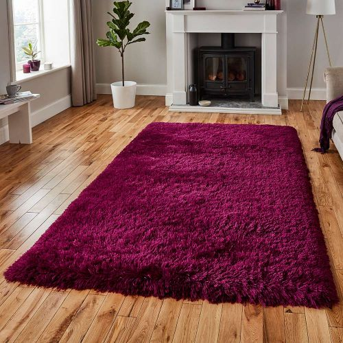 Polar Fluffy Rug Plum