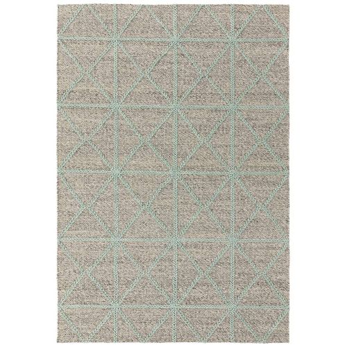 Prism Rug in Grey Mint