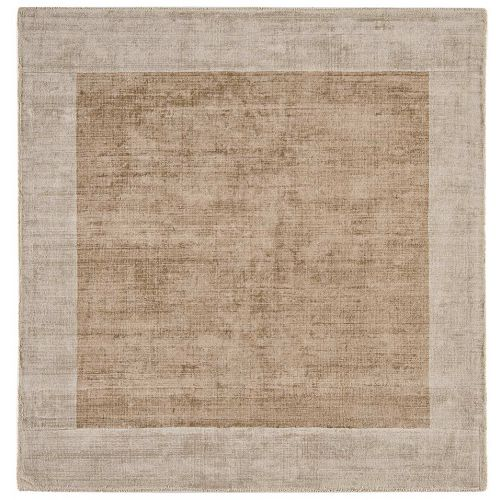 Putty Champagne Blade Border Rug