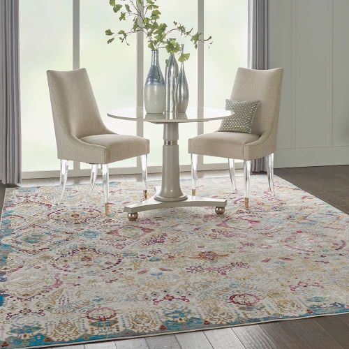 Traditional Radiant RAD01 Ivory Multi Rug