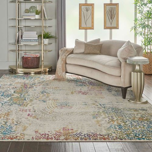 Traditional Radiant RAD03 Ivory Multi Rug
