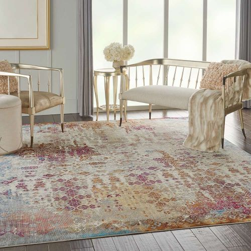 Traditional Radiant RAD04 Ivory Multi Rug