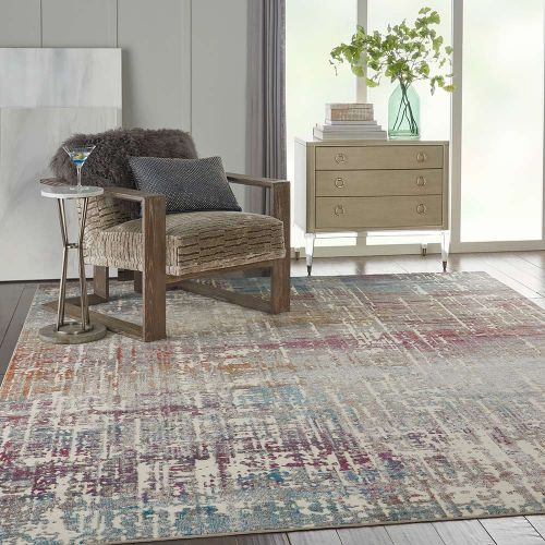 Abstract Radiant RAD07 Ivory Multi Rug