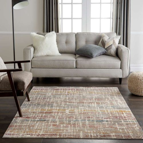Abstract Radiant RAD08 Ivory Multi Rug