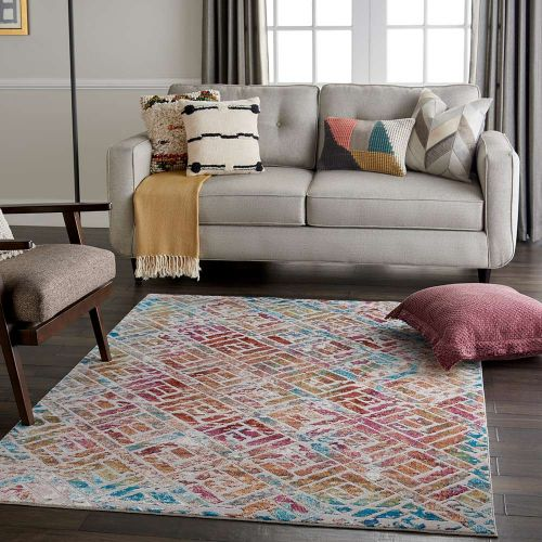 Abstract Radiant RAD09 Grey Multi Rug