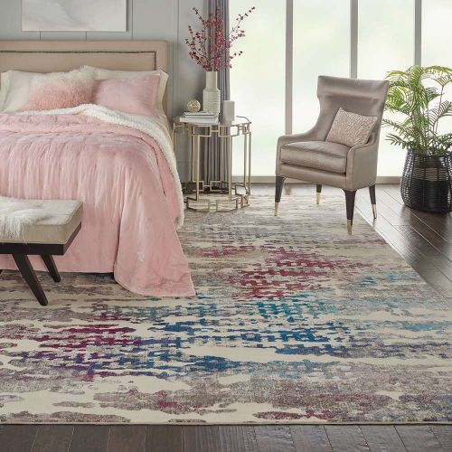 Abstract Radiant RAD10 Ivory Multi Rug