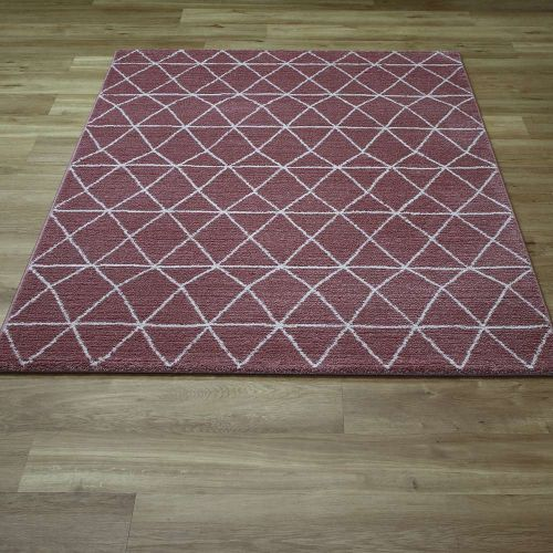 Pink Skald Diamonds Rug 49012 1464
