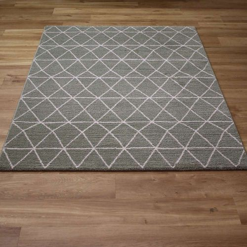 Green Skald Diamonds Rug 49012 4464