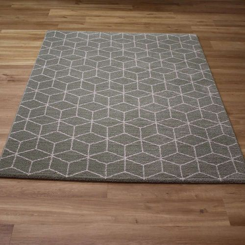 Grey Skald Geometric Rug 49017 4262