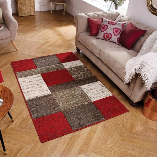 Red Brown Portland Rug 5503R