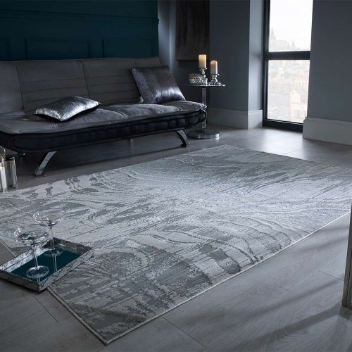 Abstract Rimini Grey Rug
