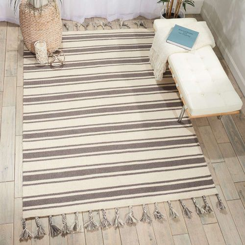 Rio Vista Dhurrie Rug DST01 Ivory Grey