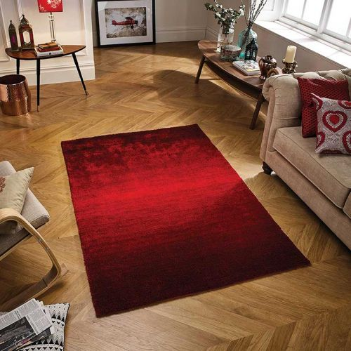 Rio Crimson Cherry Red Rug