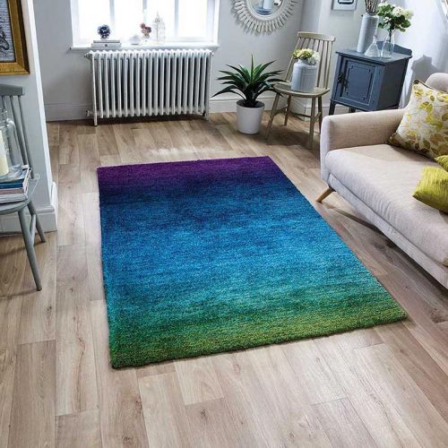 Rio Purple Blue Green Rug