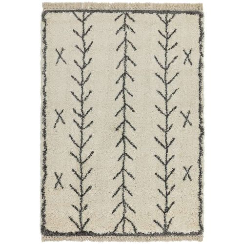 Rocco Cream Shaggy Tassels Rug RC10