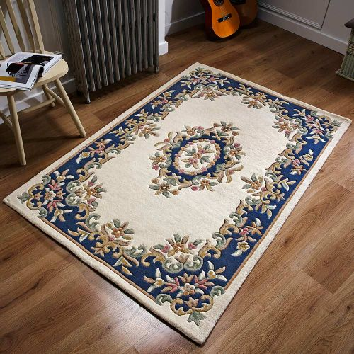 Royal Aubusson Rug Cream Blue