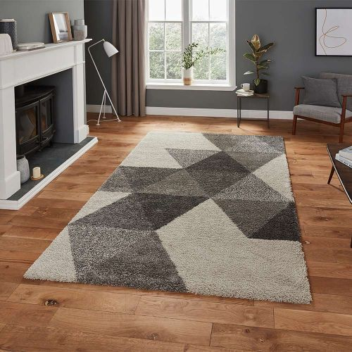 Royal 5741 Nomadic Diamonds Cream Grey Rug