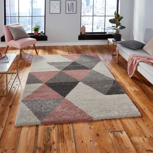 Royal 5741 Nomadic Diamonds Cream Pink Rug