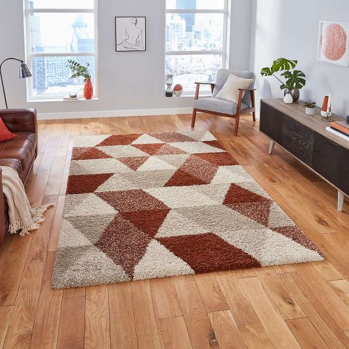 Royal 7611 Nomadic Geometric Beige Rust Rug