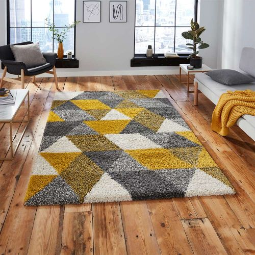 Royal 7611 Nomadic Geometric Grey Yellow Rug