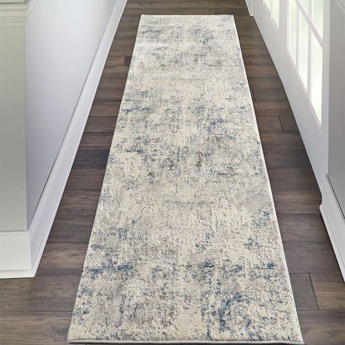 Abstract Rustic Textures RUS07 Ivory Grey Rug